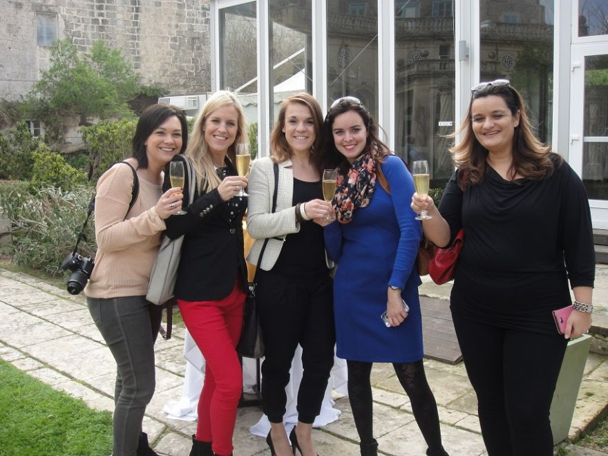 6 wedding planners getting together on a Fam trip in Malta by Wed in Malta